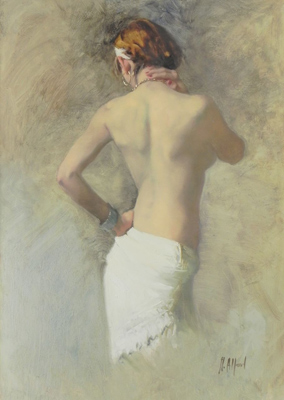 Turning Nude - White Shawl