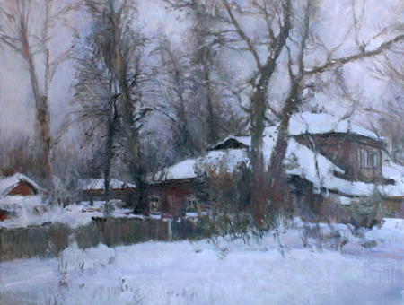The Artist's Studio In Snow